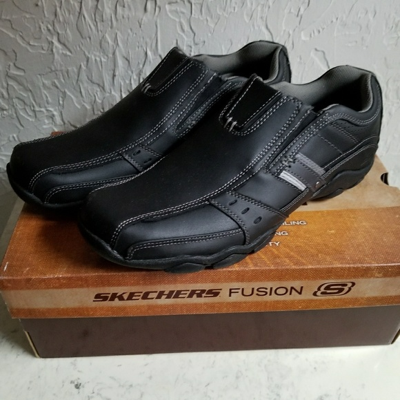 Garzo Nwt Skechers Black Shoe On Men's Fusion Slip FlK1cJ